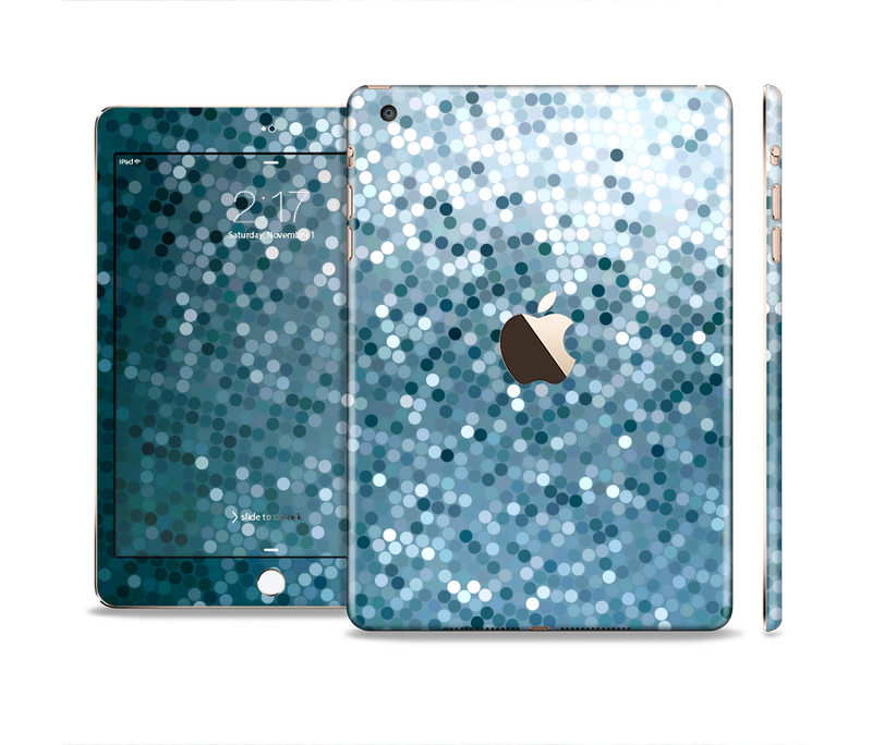 The Circle Pattern Silver Sequence Full Body Skin Set for the Apple iPad Mini 3