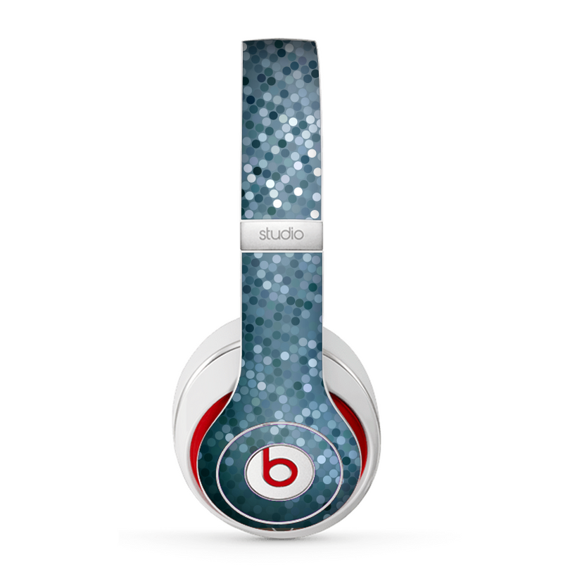 The Circle Pattern Silver Sequence Skin for the Beats by Dre Studio (2013+ Version) Headphones