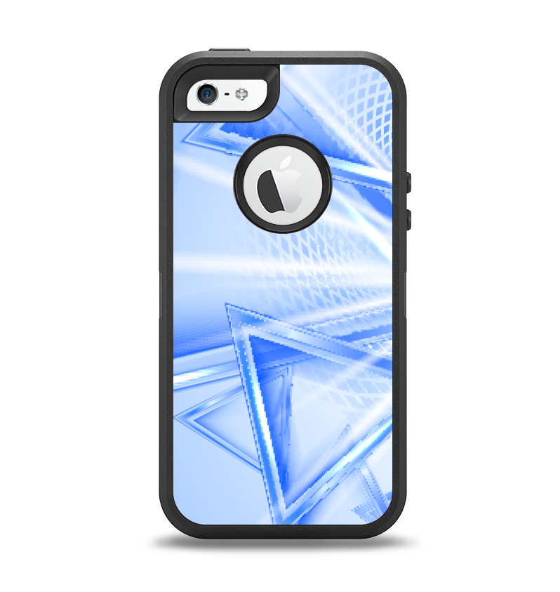 The Clear Blue HD Triangles Apple iPhone 5-5s Otterbox Defender Case S -  DesignSkinz 5540c2a5c179