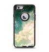 The Cloudy Abstract Green Nebula Apple iPhone 6 Otterbox Defender Case Skin Set