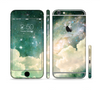 The Cloudy Abstract Green Nebula Sectioned Skin Series for the Apple iPhone 6 Plus