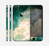 The Cloudy Abstract Green Nebula Skin for the Apple iPhone 6 Plus