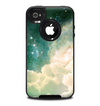 The Cloudy Abstract Green Nebula Skin for the iPhone 4-4s OtterBox Commuter Case