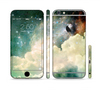 The Cloudy Grunge Green Universe Sectioned Skin Series for the Apple iPhone 6 Plus