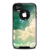 The Cloudy Grunge Green Universe Skin for the iPhone 4-4s OtterBox Commuter Case