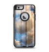 The Cloudy Wood Planks Apple iPhone 6 Otterbox Defender Case Skin Set