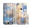 The Cloudy Wood Planks Sectioned Skin Series for the Apple iPhone 6 Plus