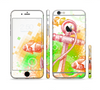 The Color-Red Anchor Under The Sea Sectioned Skin Series for the Apple iPhone 6
