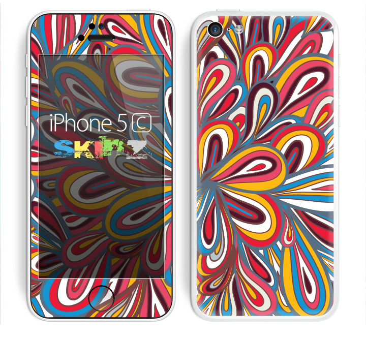 The Color Floral Sprout Skin for the Apple iPhone 5c