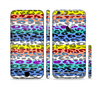 The Color Striped Vector Leopard Print Sectioned Skin Series for the Apple iPhone 6 Plus