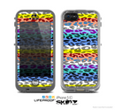 The Color Striped Vector Leopard Print Skin for the Apple iPhone 5c LifeProof Case