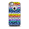 The Color Striped Vector Leopard Print Skin for the iPhone 5c OtterBox Commuter Case