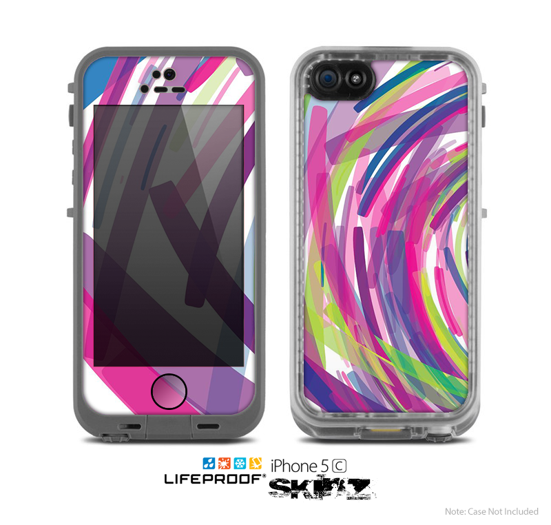 The Color Strokes Skin for the Apple iPhone 5c LifeProof Case