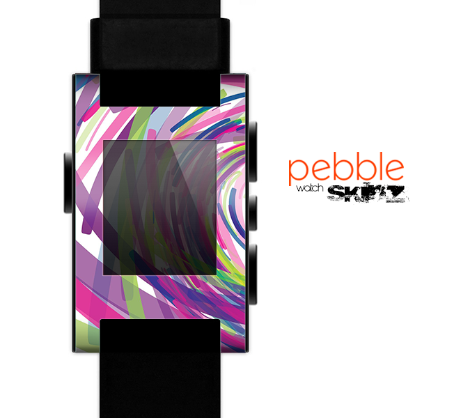 The Color Strokes Skin for the Pebble SmartWatch