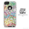 The Color Swirled Skin For The iPhone 4-4s or 5-5s Otterbox Commuter Case