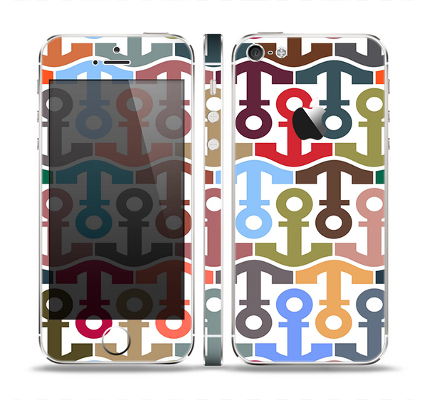 The Color Vector Anchor Collage Skin Set for the Apple iPhone 5
