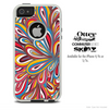 The Colored Abstract Floral Sprout Skin For The iPhone 4-4s or 5-5s Otterbox Commuter Case