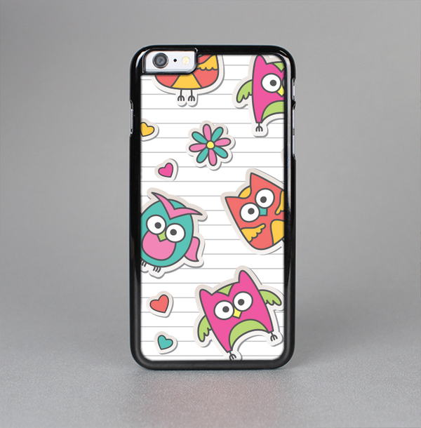 The Colored Cartoon Owl Cutouts on Paper Skin-Sert Case for the Apple iPhone 6 Plus