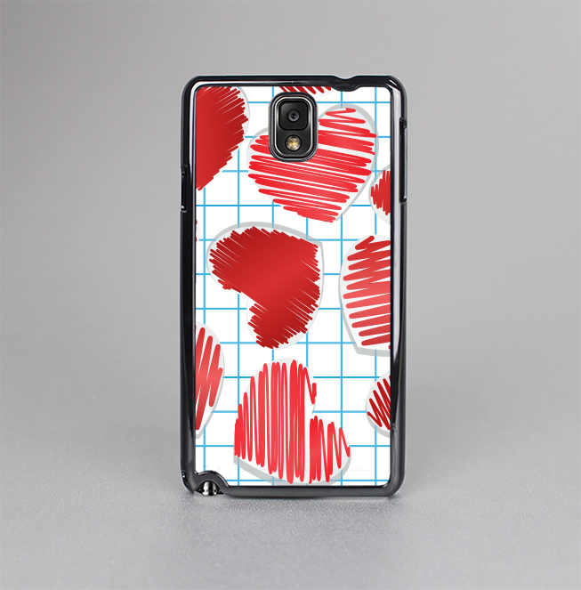 The Colored Red Doodle-Hearts Skin-Sert Case for the Samsung Galaxy Note 3