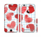 The Colored Red Doodle-Hearts Sectioned Skin Series for the Apple iPhone 6s