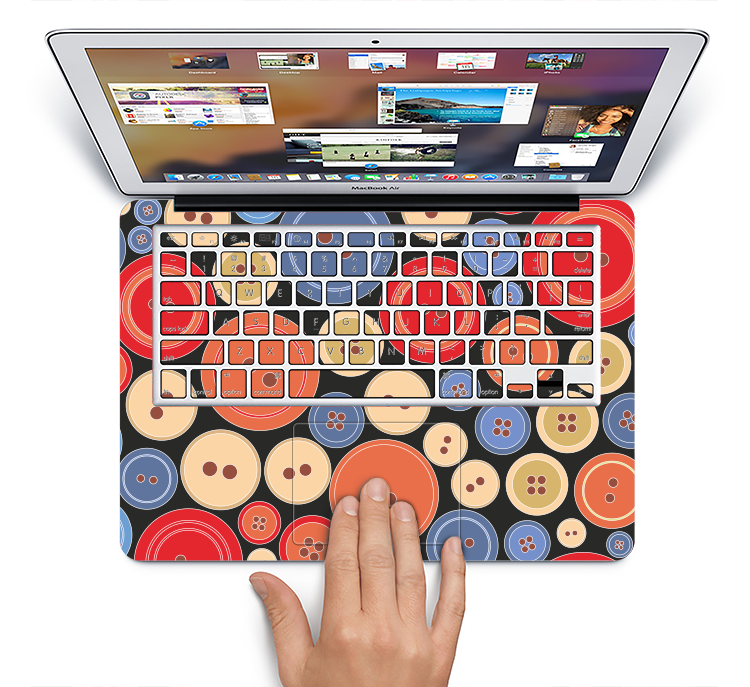 "The Colored Vector Buttons Skin Set for the Apple MacBook Pro 15"" with Retina Display"