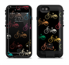 The Colored Vintage Bike Pattern On Black Apple iPhone 6/6s LifeProof Fre POWER Case Skin Set