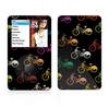 The Colored Vintage Bike Pattern On Black Skin For The Apple iPod Classic