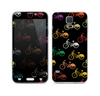 The Colored Vintage Bike Pattern On Black Skin For the Samsung Galaxy S5