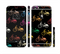 The Colored Vintage Bike Pattern On Black Sectioned Skin Series for the Apple iPhone 6s