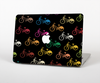 The Colored Vintage Bike Pattern On Black Skin for the Apple MacBook Pro 15""