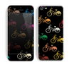 The Colored Vintage Bike Pattern On Black Skin for the Apple iPhone 5c
