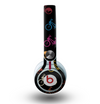 The Colored Vintage Bike Pattern On Black Skin for the Beats by Dre Mixr Headphones