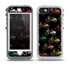 The Colored Vintage Bike Pattern On Black Skin for the iPhone 5-5s OtterBox Preserver WaterProof Case