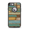 The Colored Vintage Solid Wood Planks Apple iPhone 6 Otterbox Defender Case Skin Set