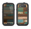 The Colored Vintage Solid Wood Planks Samsung Galaxy S4 LifeProof Fre Case Skin Set