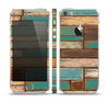 The Colored Vintage Solid Wood Planks Skin Set for the Apple iPhone 5s
