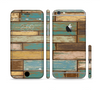 The Colored Vintage Solid Wood Planks Sectioned Skin Series for the Apple iPhone 6