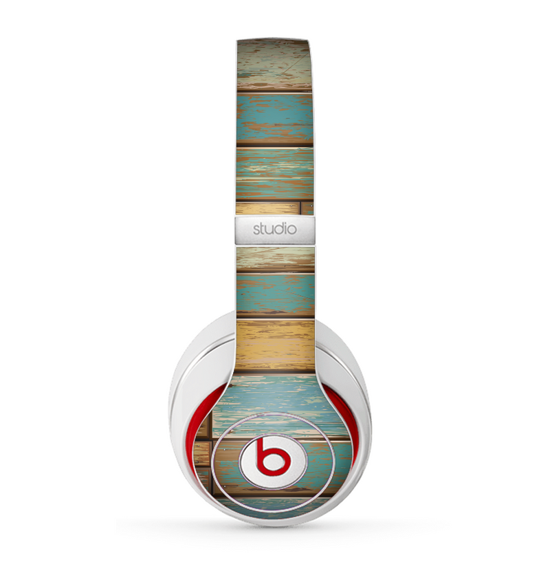 The Colored Vintage Solid Wood Planks Skin for the Beats by Dre Studio (2013+ Version) Headphones