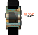The Colored Vintage Solid Wood Planks Skin for the Pebble SmartWatch