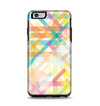 The Colorful Abstract Plaid Intersect Apple iPhone 6 Plus Otterbox Symmetry Case Skin Set