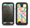 The Colorful Abstract Plaid Intersect Samsung Galaxy S4 LifeProof Fre Case Skin Set