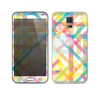 The Colorful Abstract Plaid Intersect Skin For the Samsung Galaxy S5