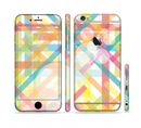 The Colorful Abstract Plaid Intersect Sectioned Skin Series for the Apple iPhone 6s