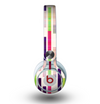 The Colorful Abstract Plaided Stripes Skin for the Beats by Dre Mixr Headphones