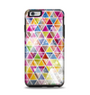 The Colorful Abstract Stacked Triangles Apple iPhone 6 Plus Otterbox Symmetry Case Skin Set