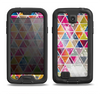 The Colorful Abstract Stacked Triangles Samsung Galaxy S4 LifeProof Fre Case Skin Set