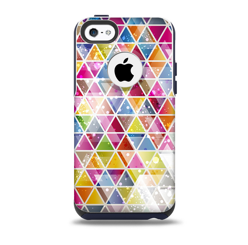 The Colorful Abstract Stacked Triangles Skin for the iPhone 5c OtterBox Commuter Case