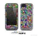 The Colorful Abstract Tiled Skin for the Apple iPhone 5c LifeProof Case