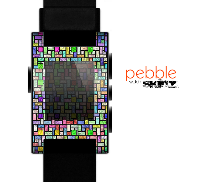 The Colorful Abstract Tiled Skin for the Pebble SmartWatch