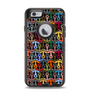 The Colorful Anchor Vector Collage Pattern Apple iPhone 6 Otterbox Defender Case Skin Set